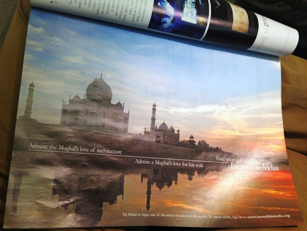 Iberia - Business class magazine, Incredible India ad