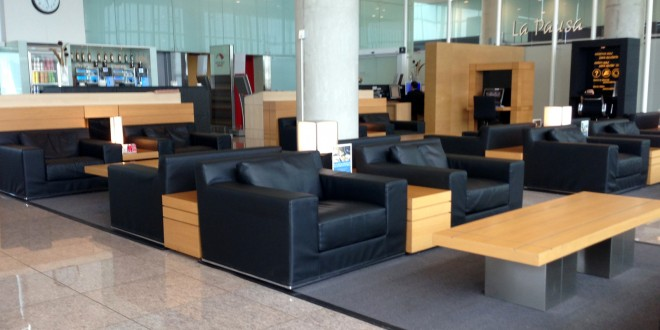 Iberia domestic lounge at Barcelona El Prat airport