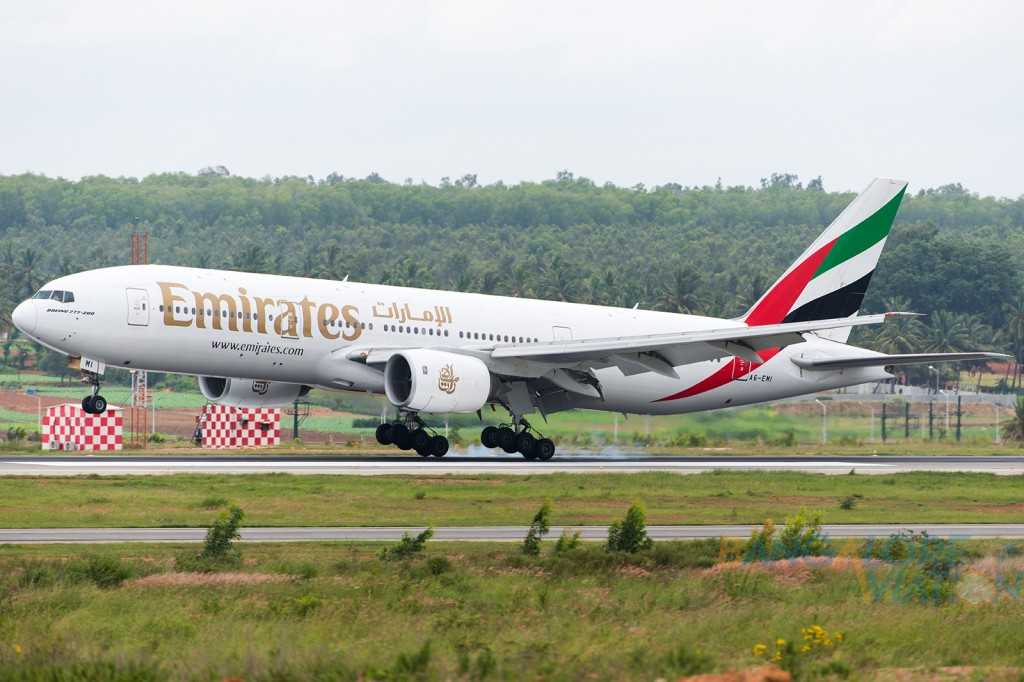 Emirates Boeing 777-200ER. Copyright © Vedant Agarwal. Photo used with permission.