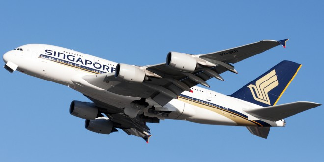 Singapore Airlines A380-800 9V-SKD. Image copyright Devesh Agarwal