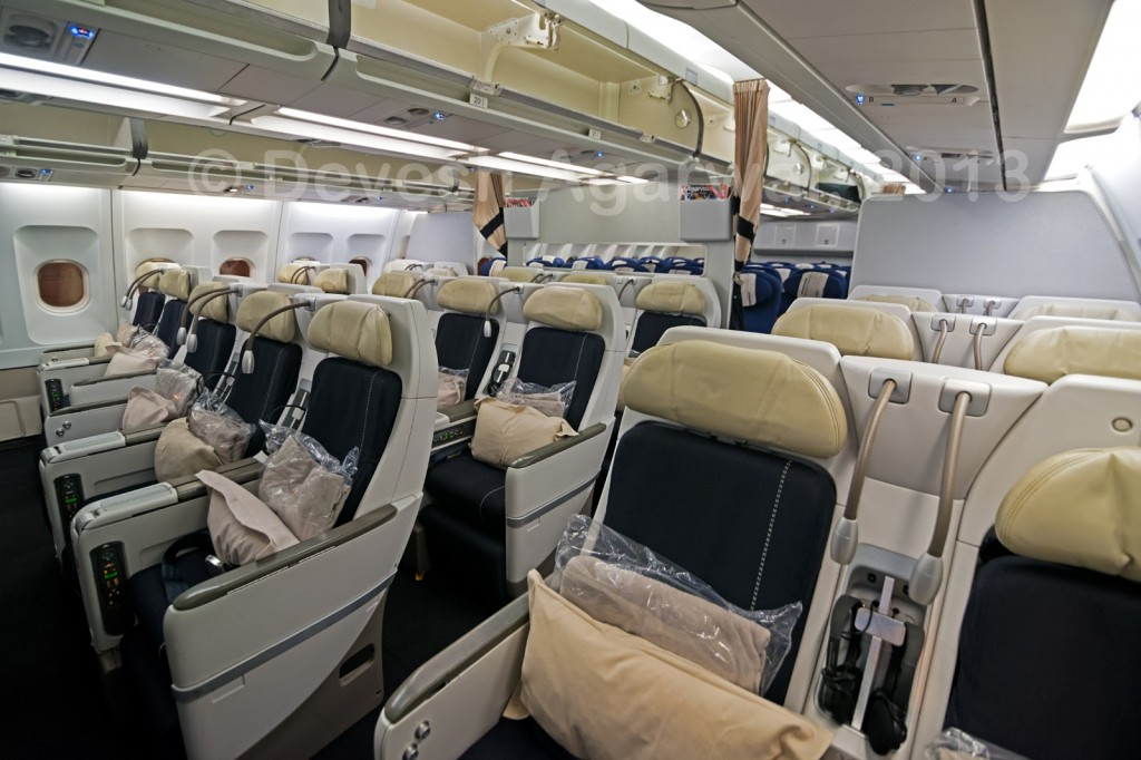 Air France premium economy cabin on board their A330-200.