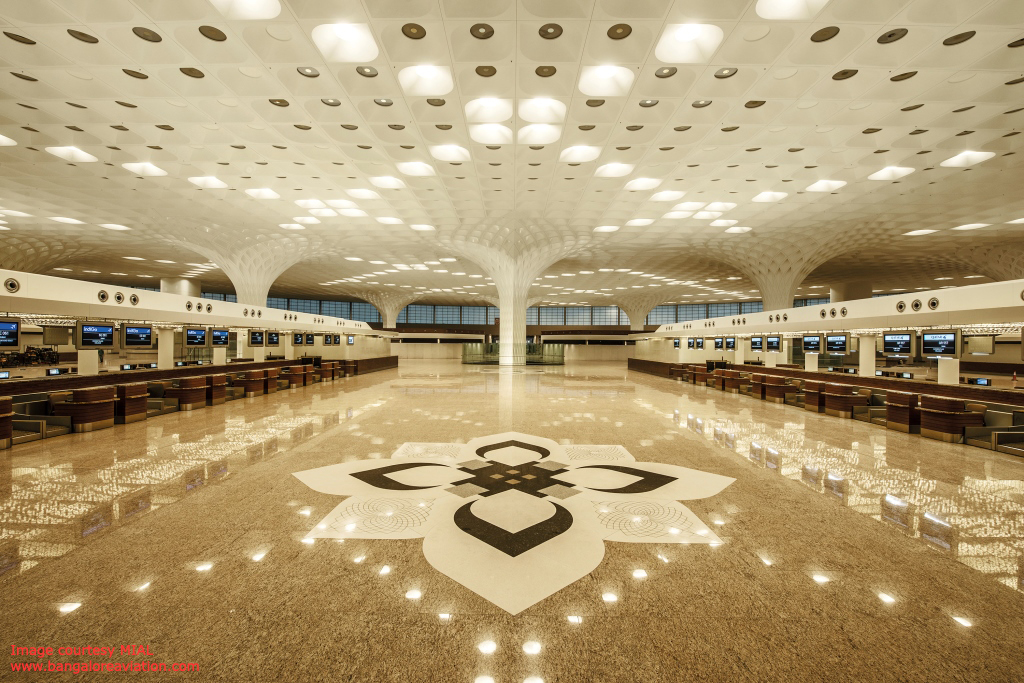 Check-in hall with Mega Roof at Mumbai CSIA Terminal 2