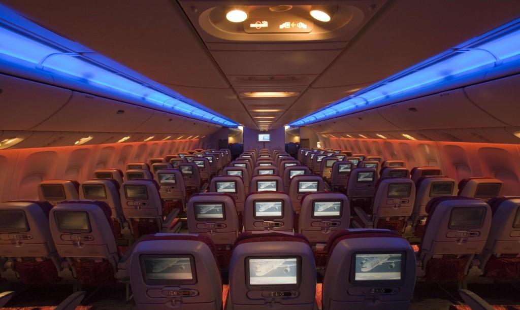 Qatar Airways economy class.