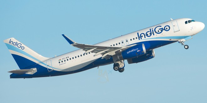 IndiGo Airbus A320-232(SL) VT-IFK with Sharklets.