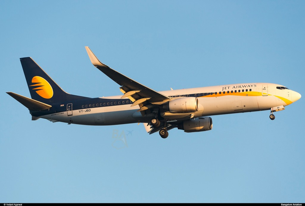 Jet Airways' Boeing 737-800 VT-JBD