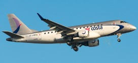 Air Costa Embraer E170 VT-LNR at Bangalore.