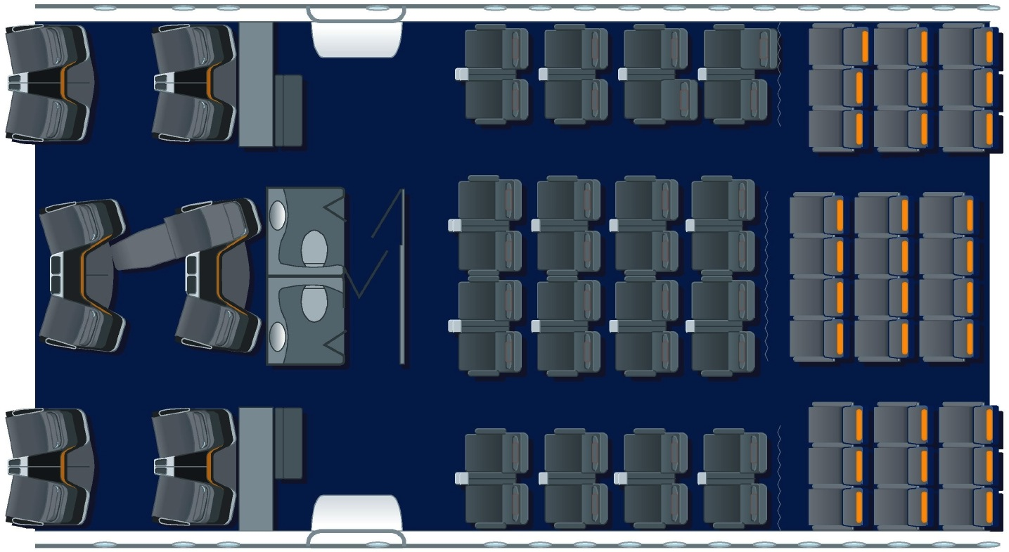 Lufthansa seat map Boeing 747-8i comparing business, premium economy and economy classes
