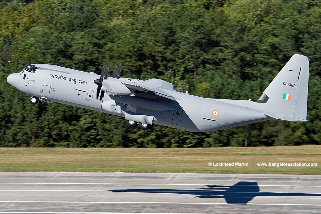 Indian Air Force Lockheed Martin C-130J-30 Super Hercules KC-3801 of 77 Squadron 'Veiled Vipers'