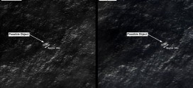 Satellite images of possible debris from Malaysia Airlines MH370 off the coast of Australia.