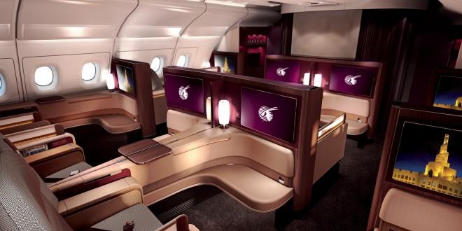 Qatar Airways A380 First Class Cabin