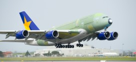 First Airbus A380 for Skymark Airlines Japan takes off on first flight