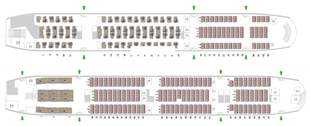 Asiana Airlines A380 cabin configuration seat map layout