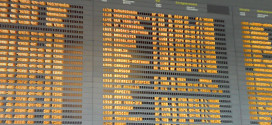 Time-table_Flight_departures_on-time_board