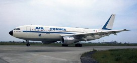 40th anniversary of first Airbus commercial aircraft delivered. A300B2 to Air France F-BVGA (MSN005). May 1974.