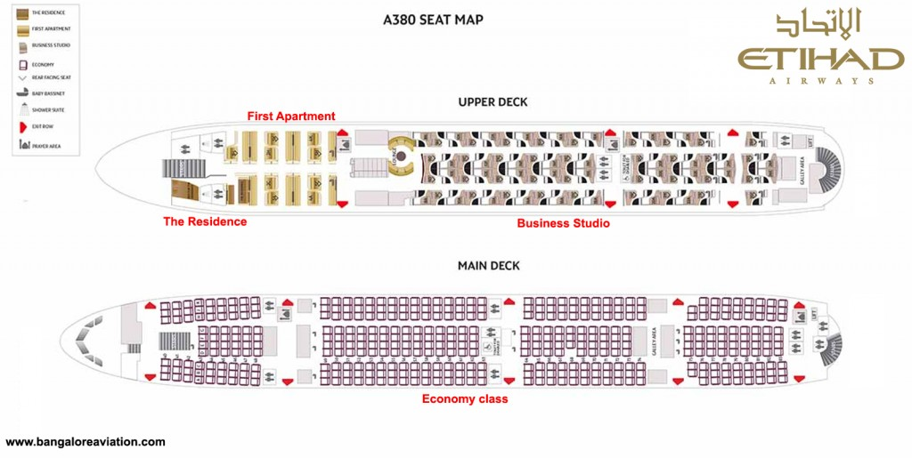 Etihad Airways Airbus A380 Seat Map. Base image courtesy Etihad.