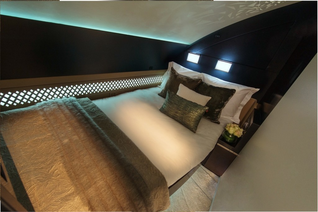 """The Residence"" on Etihad Airways' Airbus A380 - Double bedroom."