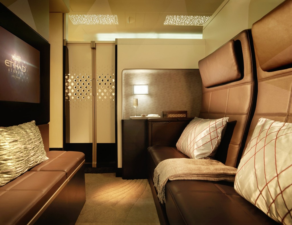 """The Residence"" on Etihad Airways' Airbus A380 - living room"
