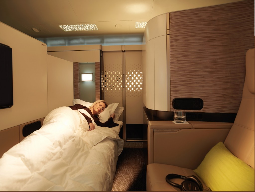 Etihad A380 First Apartment bed. Picture courtesy Etihad Airways
