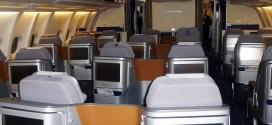 Lufthansa new business class cabin