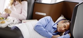 Lufthansa new business class full flat seat