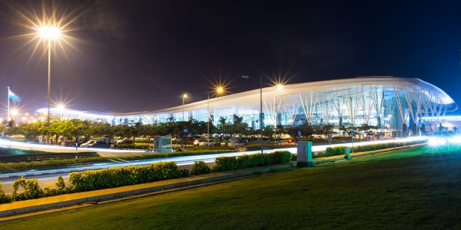 The main passenger terminal building at Bangalore Airport.