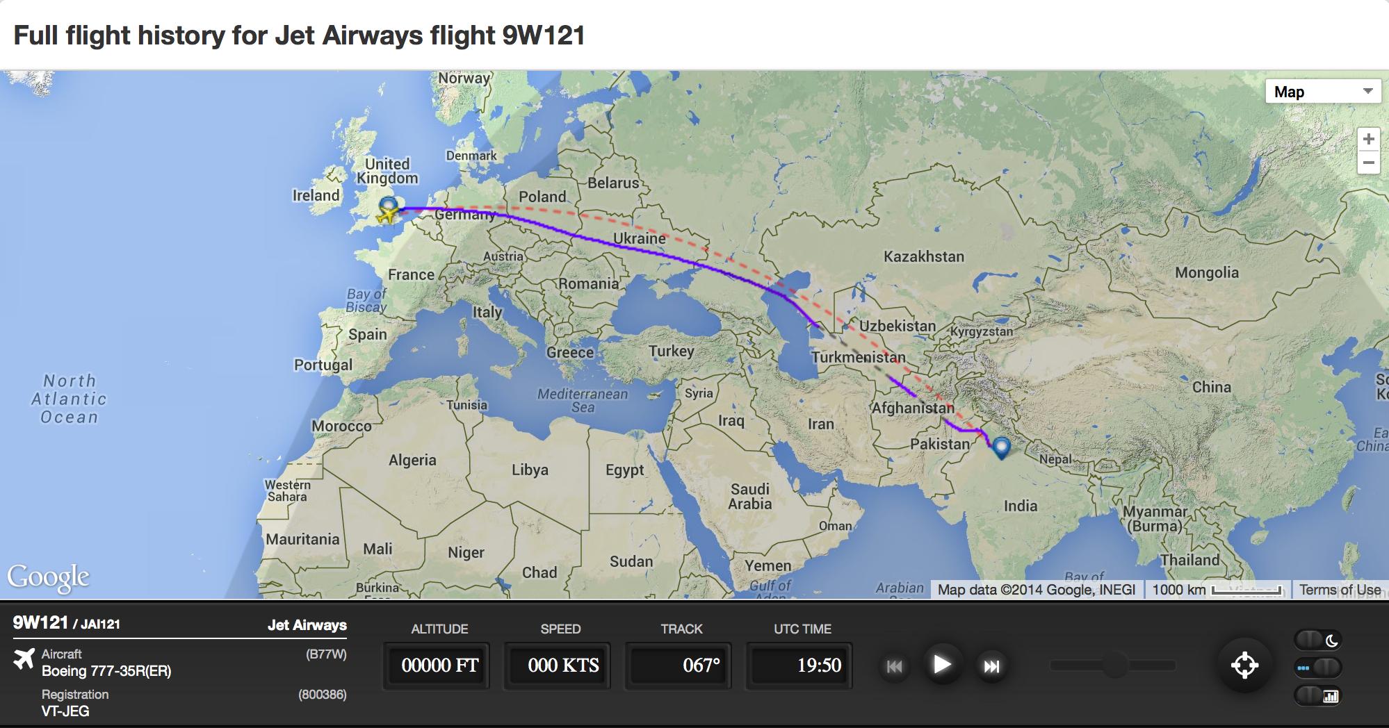 Radar data exposes Jet Airways\' lies on Ukraine over-flights #MH17 ...