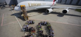 50th A380 delivered to Emirates. Airbus image.