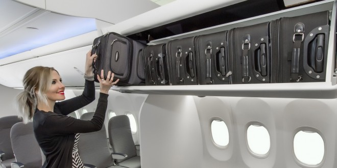 New Boeing 737 Space Bins. Boeing image.