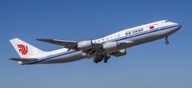 Air China's first Boeing 747-8i. Boeing 747-89L B-2485 LN (MSN) 41191.