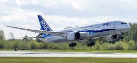 All Nippon Airways' first Boeing 787-9 Dreamliner.