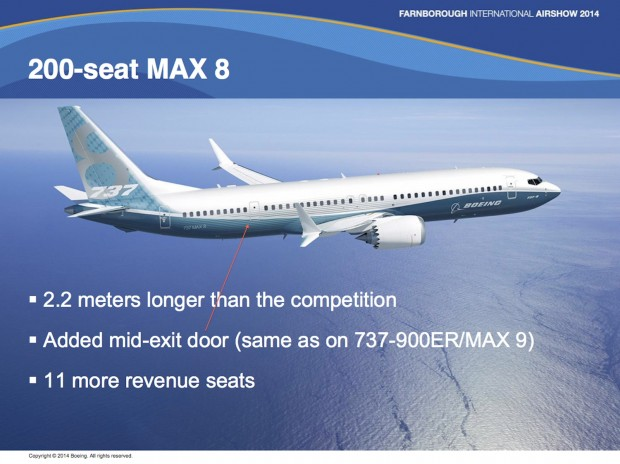 Boeing 737 MAX 200 proposal.