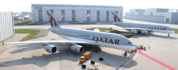 Qatar Airlines Airbus A380 delivery