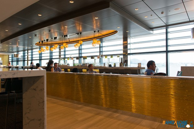 The bar at the United Club. London Heathrow Terminal 2.