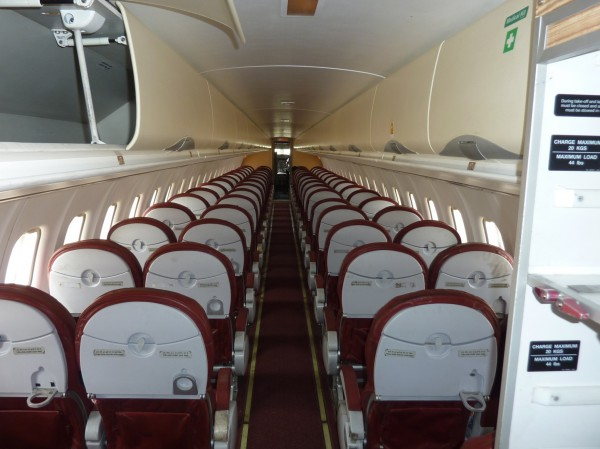 Interior of ATR72-500 MSN699 formerly VT-KAA.