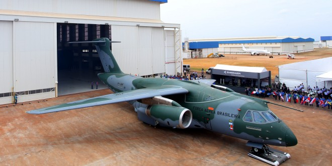 Embraer rolls out the first KC-390. Embraer Image.