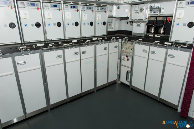 The rear galley on the DreamLiner.