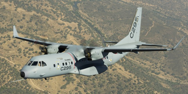 Airbus C295 military medium lift transport. Airbus image.
