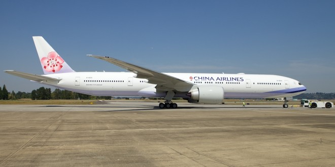 China Airlines' first Boeing 777-300ER B-18051.