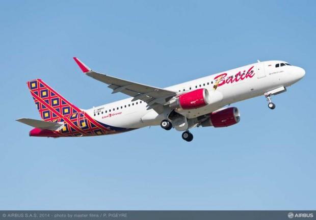 Batik Air Airbus A320.
