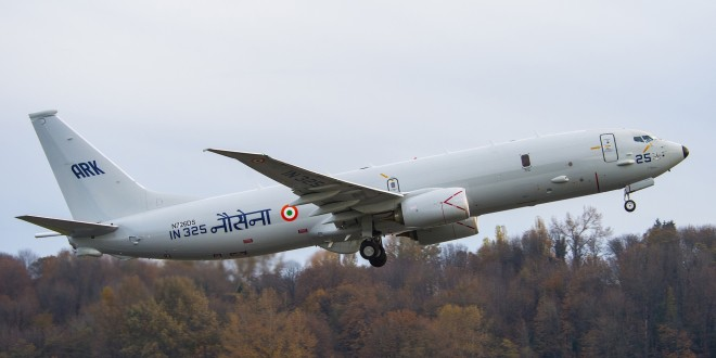 Indian Navy tail IN325, sixth Boeing P-8I maritime patrol aircraft.