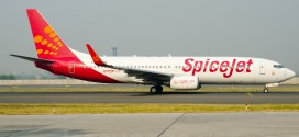 Spicejet Boeing 737-800WL VT-SGK at New Delhi airport.