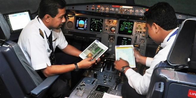 Malaysia Airlines implements electronic flight bag from Lufthansa Systems with Airbus Flysmart application.