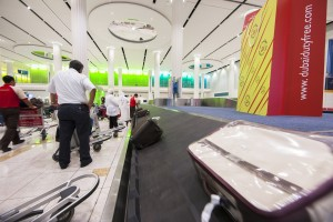 Dubai Airport Terminal 3 baggage claim carousel. Photo courtesy Dubai Airports.