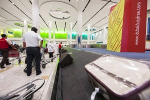 Dubai Airport Terminal 3 baggage claim carousel. Photo courtesy Dubai Airports.