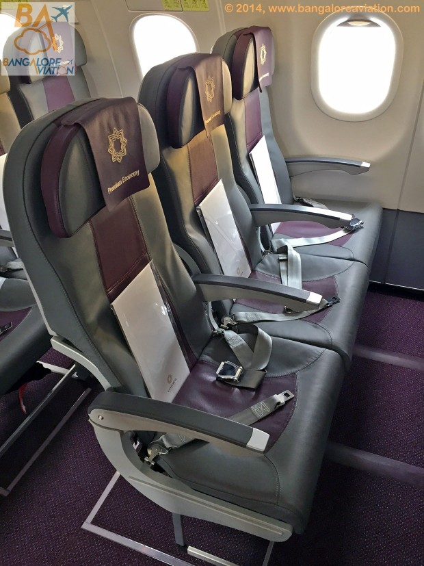 A first look of Premium Economy class on Vistara (Tata-SIA airline) .