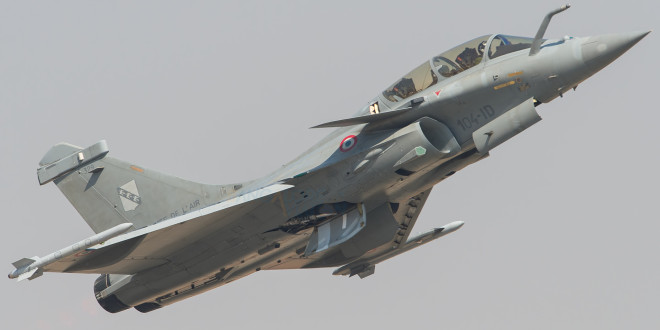 The Rafale performing at Aero India 2015.