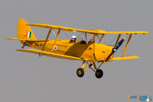 The standard flag bearer of the show - The IAF Tiger Moth.