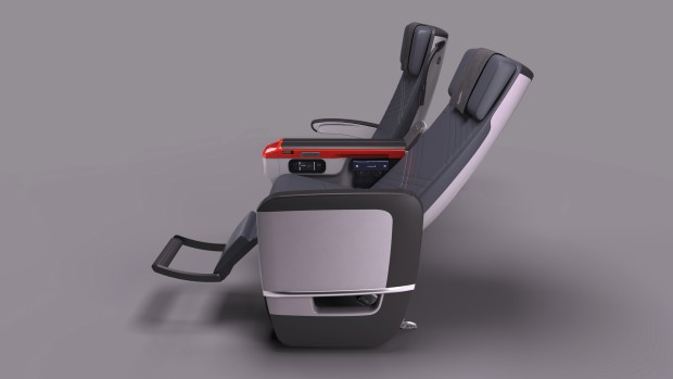 Singapore Airlines Premium Economy class seat recline of 8 inches