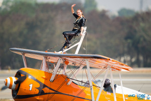One of the Breitling Wing Walkers.