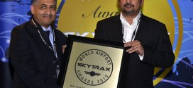 Bhaskar Bodapat and Hari Marar of BIAL with award at the SKYTRAX World Airports Awards 2015, Paris. BIAL image.
